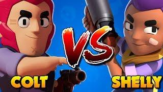COLT vs SHELLY | Brawl Stars Mini Games and Funny Matches #1