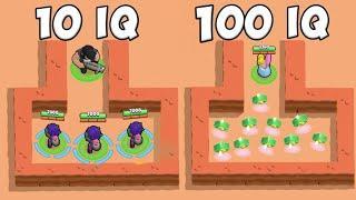 100IQ vs 10IQ Brawl Stars Funny Moments