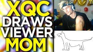 xQc Draws Viewer's Mom - Overwatch Funny Moments 11