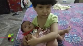 Mom and little daughter cute argument || Cute Babies love || Baby funny video