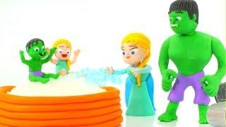 FUNNY KIDS LOVE THEIR POOL ❤  Play Doh Cartoons For Kids