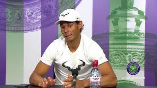 Rafael Nadal Jokes with Reporter about lack of grass Matches