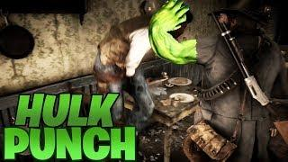 Hulk Punch - Funny Fails & Best RDR2 Moments #10 (Red Dead Redemption 2)