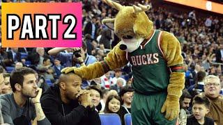 NBA MASCOTS Funny Moments - Part 2