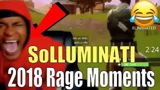 SoLLUMINATI FUNNIEST Rage Moments Of 2018 | Hilarious Rage Moments (NBA 2K19, Fortnite, Reactions)