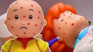 CAILLOU AND ROSIE GET SICK | Funny Animated cartoons Kids | Caillou Stop Motion | Cartoon movie