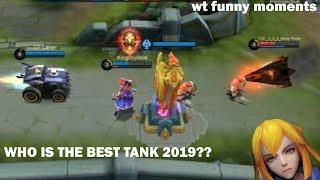 Mobile Legends Funny Moments : Who is the best tank? | Lucu | 300iq GAMEPLAY