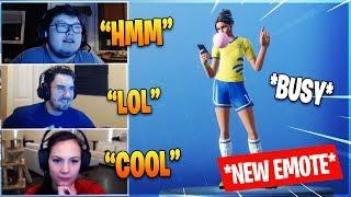 Streamers Reacts To New Emote *BUSY* - Fortnite Funny Moments