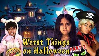 Worst Things Halloween Part 3 - Funny Skits // GEM Sisters