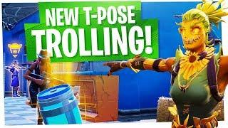 NEW SCARECROW T-POSE TROLLING! - Pretending to be Scarecrows - Fortnite Funny Moments & Fails
