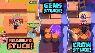 BRAWLER STUCK! GEMS STUCK! - TOP 5 GLITCHES IN BRAWL STARS