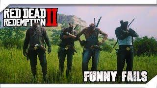 Funny Fails & Best RDR2 Moments #33 (Red Dead Redemption 2) - LoL Videos