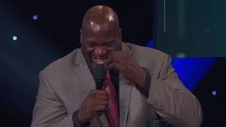 Shaq can't stop Laughing at Chuck's Sweat Joke   NBA Awards 2018