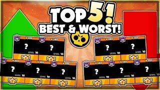 The TOP 5 BEST & WORST Brawlers In Brawl Stars! - Post Balance Update Best & Worst Brawlers!