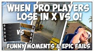 WHEN PRO PLAYERS LOSE IN A Xvs0 SITUATION! (EPIC FAILS, FUNNY MOMENTS) - CS:GO