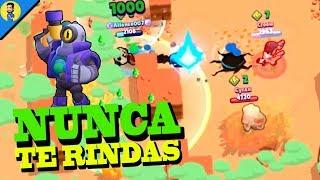 NUNCA TE RINDAS (never give up) - Reaccionando a FUNNY MOMENTS de BRAWL STARS
