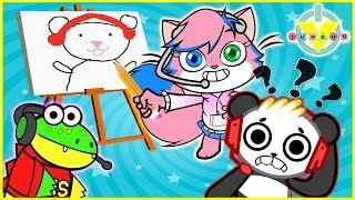Skribbl.io Funny Moments! Who Draws Better? Let's Play Combo Vs. Gus Vs. Alpha Lexa