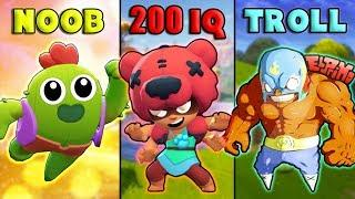 NOOB vs 200IQ vs TROLL - NEW Brawl Stars Funny Moments, Glitches & Fails #6 | Brawl Stars Montage