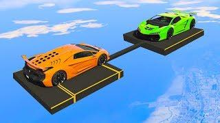 EXTREME MILE HIGH SUPERCAR WRESTLING! - GTA 5 Funny Moments