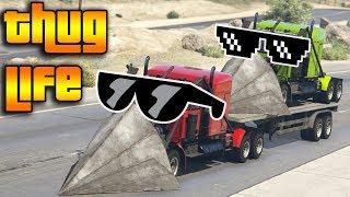 GTA 5 ONLINE : THUG LIFE AND FUNNY MOMENTS (WINS, STUNTS AND FAILS #22)
