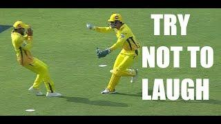 Funny Cricket Fielding Moments - Try not to Laugh Challenge!