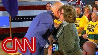Joe Biden jokes at event with voter  She pulled me close