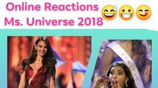 Miss Universe 2018 Reactions l Reviews l jokes l Memes l #missUniverse2018 l catriona gray