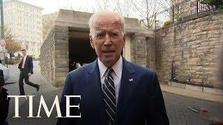 Biden Jokes After Promising To Respect Personal Space: 'He Gave Me Permission To Hug Him' | TIME