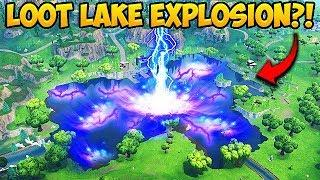 *EXPLOSION* SPOTTED AT LOOT LAKE! - Fortnite Funny Fails and WTF Moments! #316