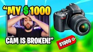 SypherPK BREAKS His $1000 Camera On Stream | Fortnite Daily Funny Moments Ep.353