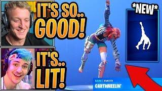 Streamers React to the *NEW* Cartwheelin' Emote! - Fortnite Best and Funny Moments