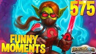 HEARTHSTONE Best Daily FUNNY and WTF Moments 575!