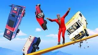 LOSE BALANCE AND YOU FALL! - GTA 5 Funny Moments