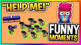 BEST Brawl Stars Funny Moments, Glitches & Fails Montage V1