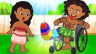 Moana & Maui Dating Love Funny Story! The Muffin Man Cartoon para niños