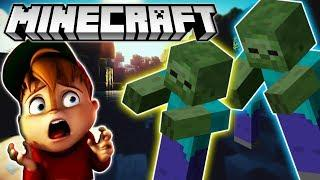 CHIPMUNK PLAYS MINECRAFT :D #2  | Alvin Plays Minecraft For Kids No Bad Words Games