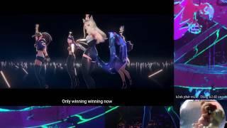 K/DA - POP/STARS Official Music Video || Two Bear funny REACTION