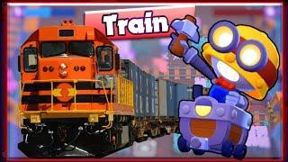 GAMEPLAY  OF NEW TRAIN GEM GRAB MAP OF BRAWL STARS || FUNNY VIDEO || BRAWL STARS (HINDI)
