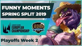 Funny Moments LCS & LEC - Playoffs: Spring Split 2019