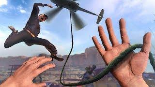 CRAZY Helicopter Rescue in VIRTUAL REALITY! (Arizona Sunshine Funny Moments)