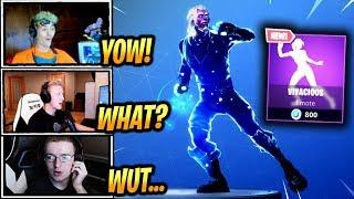 STREAMERS REACT *NEW* VIVACIOUS DANCE/EMOTE! - Fortnite Epic & Funny Moments (Fortnite BR)