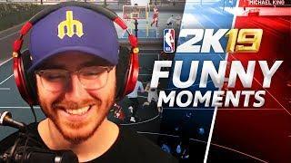 I'M TOO BIG!! - NBA 2K19 Park Funny Moments