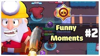 Funny Moments & Glitches & Fails | Brawl Stars Montage #2