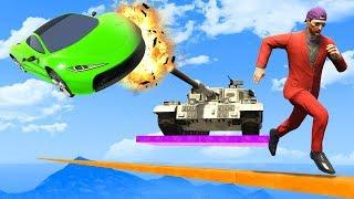 Can You OUTRUN THE TANK? - GTA 5 Funny Moments