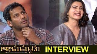 Abhimanyudu Movie Team Funny Interview || Samantha | Vishal | Arjun | ZUP TV