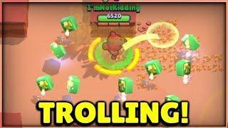 MAX NITA AT 0 TROPHIES TROLL! TROLLING NOOBS! :: Brawl Stars Gameplay