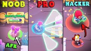 NOOB vs PRO vs HACKER - Brawl Stars Funny Moments #1
