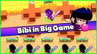Playing Bibi in Big Game - Gone Wrong | Bibi Funny Moments Fails and Glitches | Bibi Brawler Guide