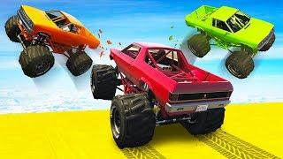 CRAZY MONSTER TRUCK RKO! - GTA 5 Funny Moments