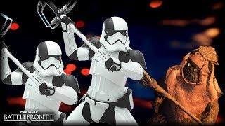 Star Wars Battlefront 2 HUNTING EWOKS - Funny Gameplay Moments (Attacking Ewoks!)